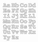 Alphabet Coloring Fonts Templates Stencils Letters Printable Letter Script sketch template