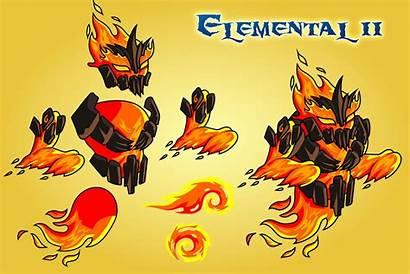 2d Fantasy Elemental Character Sprites Craftpix