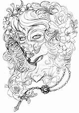 Tattoo Dead Deviantart Metacharis Coloring Pages Skull Flash Tattoos Sheets Sketches Adult Butterfly Sugar Sleeve Feminine Printable Skulls Designs Drawing sketch template