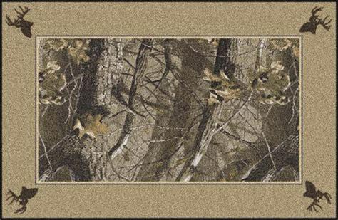 camo bathroom rugs hardwoods realtree bordered tree leaves camouflage area rug