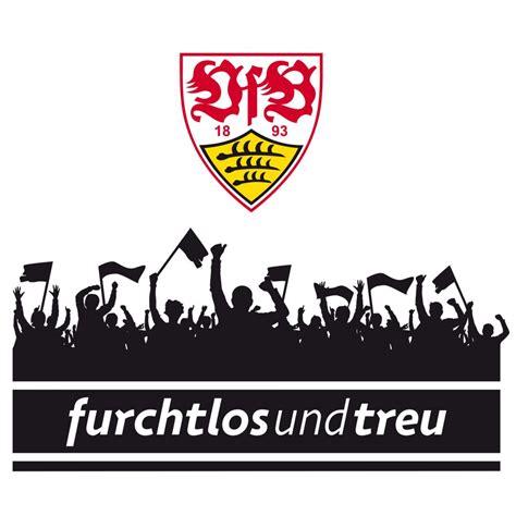 wandtattoo vfb stuttgart fans mit logo wall artde