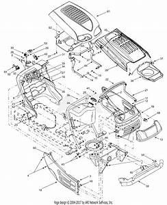 Mtd 13aj608h131  2002  Parts Diagram For Hood Style 7  U0026 8