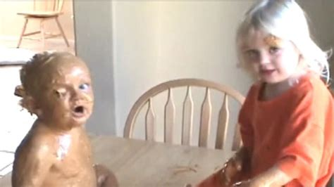 Mom Catches Daughter Giving Brother A Peanut Butter Bath