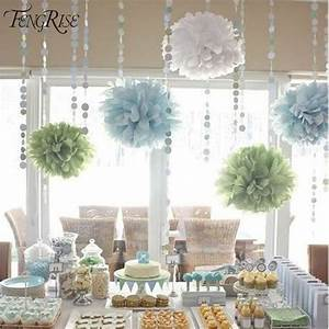 FENGRISE 3pcs 20 25 30cm Wedding Tissue Paper Pom Poms