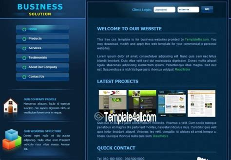 corporate business css website template free