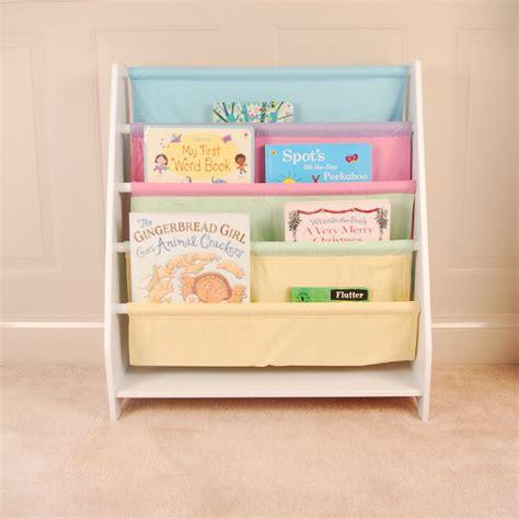 White Sling Bookcase by Wooden White Canvas Sling Bookcase Bookshelf Magazine