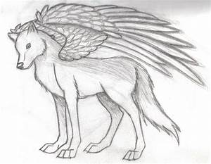 Winged Wolf again by Howling-Wolf on DeviantArt