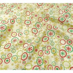 Tissu De Noel : tissu no l cru couronnes de no l largeur 150cm x 50cm ~ Preciouscoupons.com Idées de Décoration