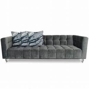 modern grey velvet sofa modshop modshop With charcoal velvet sectional sofa