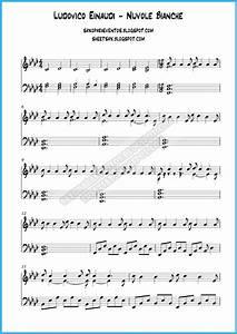 Partitura de Nuvole Bianche de Ludovico Einaudi para piano Partituras y pistas para saxo