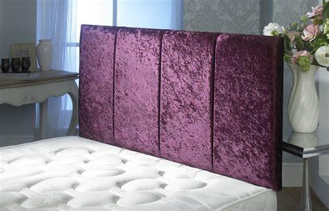 Purple Velvet King Headboard by Surrey Crushed Velvet Headboard