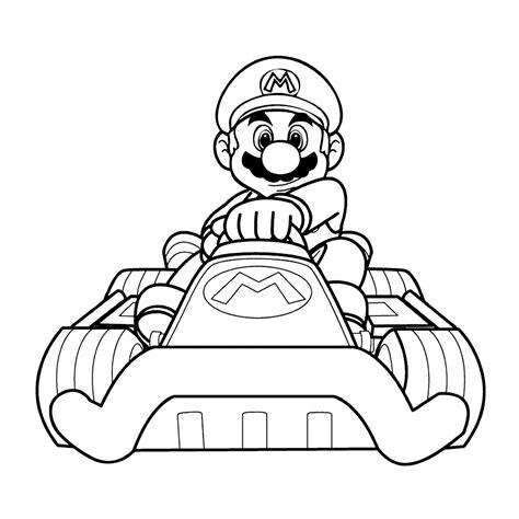 Kleurplaten Mario Bros by Leuk Voor Mario Kart