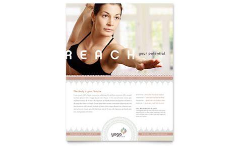 pilates yoga flyer ad template design