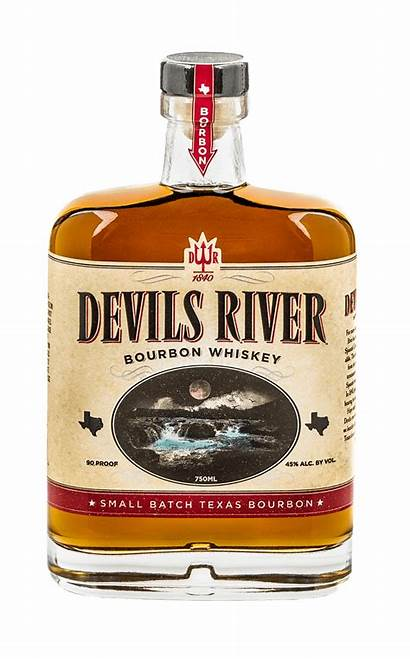Bourbon River Devils Whiskey Whisky Bottle Texas