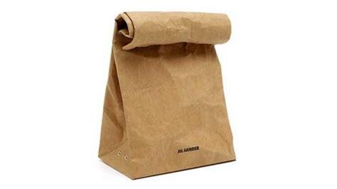 Jil Sander 5 Brown Paper Bag