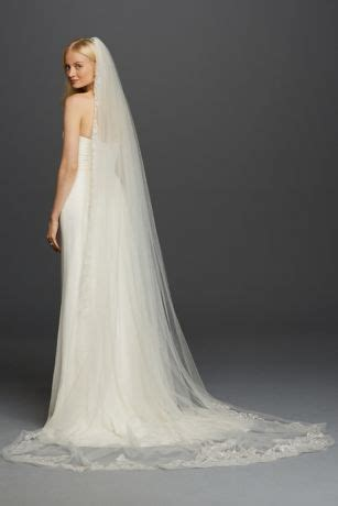 tier cathedral sequin embroidered edge davids bridal