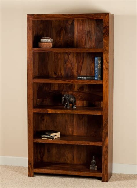 solid wood tall bookcase casa bella handcrafted sheesham furniture