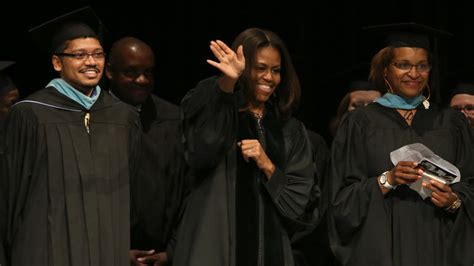 michelle obama honors chicago grads slain classmate