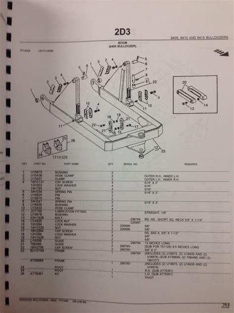 450c Wiring Diagram by Deere Jd 450c Crawler Dozer Parts Manual Pc1420