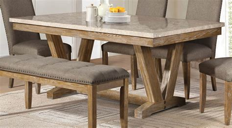 Homelegance Jemez Dining Table Faux Marble Top