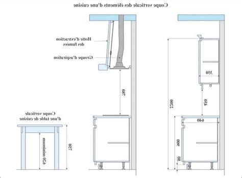 hauteur meubles cuisine hauteur et largeur du plan de travail collection et