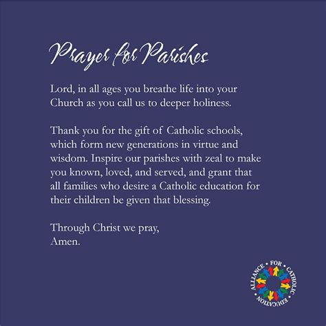prayer   parishes ace  notre dame