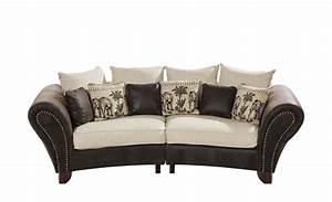 Sofa Kolonialstil Leder : smart big sofa braun beige mikrofaser webstoff nadja ~ Indierocktalk.com Haus und Dekorationen