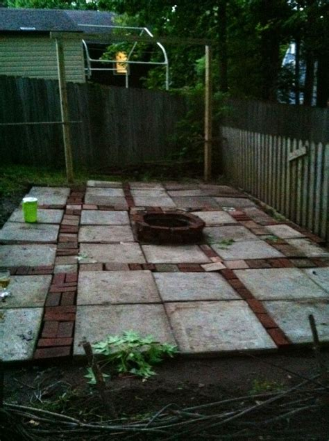 built in pits patio with built in fire pit outdoor garden pinterest