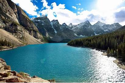 Moraine Lake Calm Banff Panorama Lac Canada