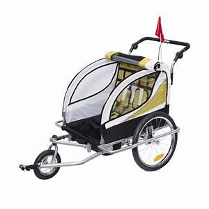 Kinderwagen Für 2 Kinder : 2 in 1 kinder fahrradanh nger kinderwagen f r 2 kinder anh nger ~ Yasmunasinghe.com Haus und Dekorationen