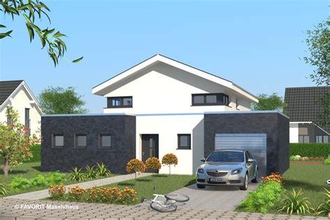 haus mit integrierter garage favorit massivhaus