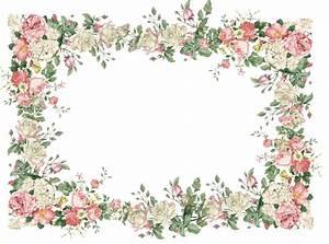 free vintage flower frame png: freebies | PRINTABLES ...