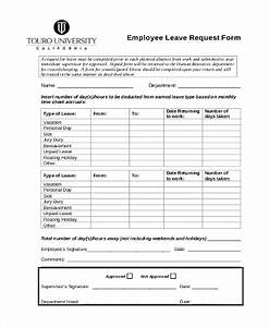 leave request forms templates idealvistalistco With documents leaving job
