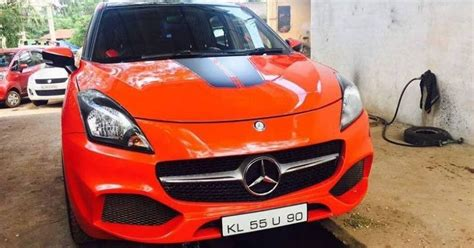 Baleno Car Modification by Maruti Baleno Modified To Look Like Mercedes A Class And