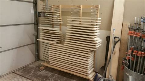 drying rack for cabinet doors   spray room / booth