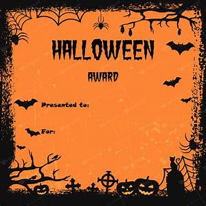 Customizable Award Certificates Halloween Award Certificates 5 Templates For Microsoft Word
