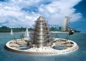 Futuristic Floating City Future