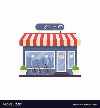 Bakery Clipart Storefront Isolated Negozio Rooftop Forno