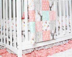 Pink Crib Bedding by Crib Bedding Etsy