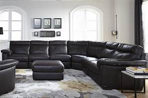 Natuzzi Editions B757 Four Piece Power Reclining Sectional