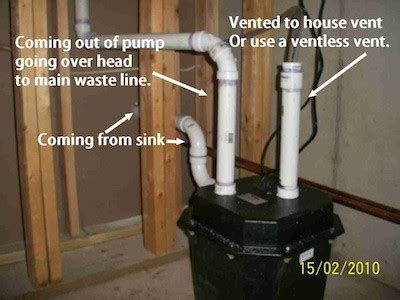 install  sink pump    basement