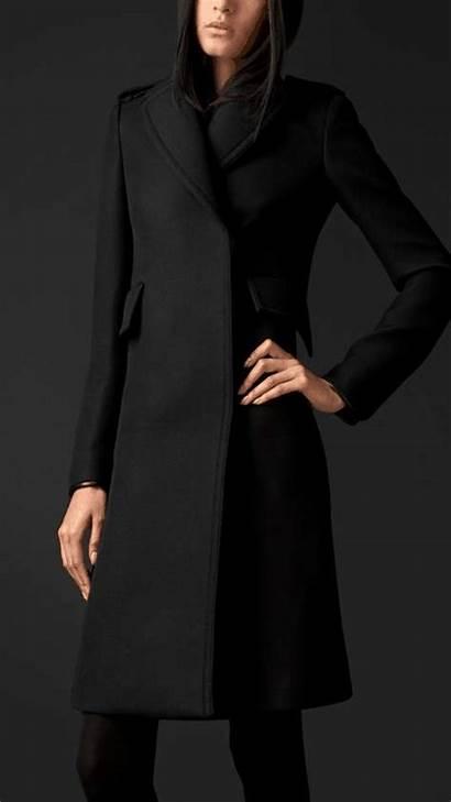 Coat Burberry Wool Coats Wantering Fur Double