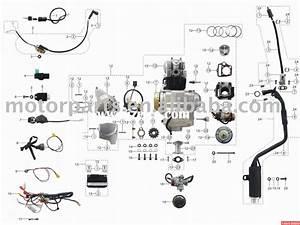 Engine Parts  110cc Atv Parts  Wiring Assy    China Atv Parts