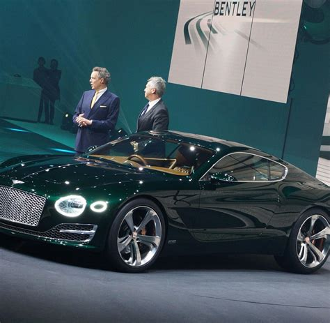 neues british racing green bentley exp  speed  welt