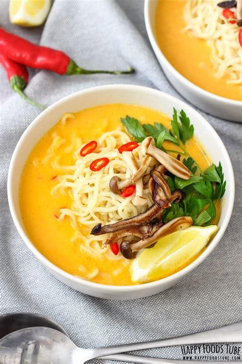 spicy thai pumpkin soup  ramen noodles happy foods tube