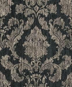 Tapete Barock Schwarz : tapete barock klassik papiergarn schwarz 077819 ~ Yasmunasinghe.com Haus und Dekorationen