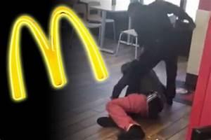 McDonald's fight: 'Employee beats customer' in shock video ...