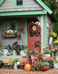 Fall Potting Shed Inspiration and Quaint Garden Sheds
