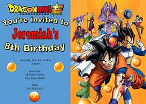 Dragonball z invitation dragonball birthday for Dragon ball z wedding invitations
