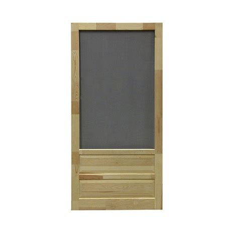 screen door home depot screen tight 36 in x 80 in hton wood unfinished